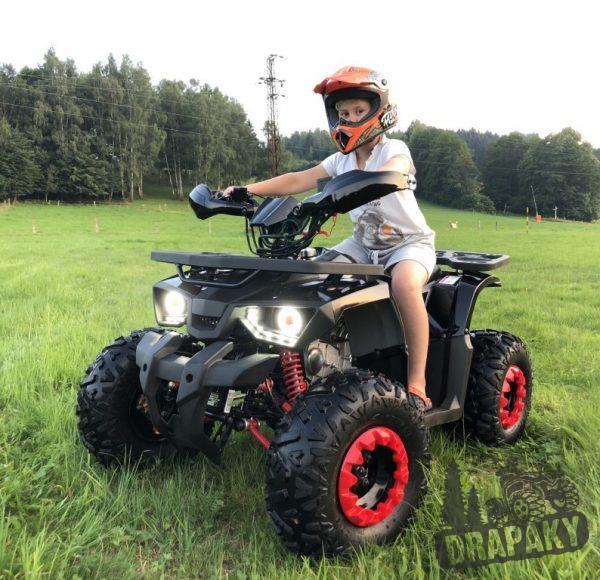 Detská benzínová štvorkolka 125cc s nosičom vpredu i vzadu