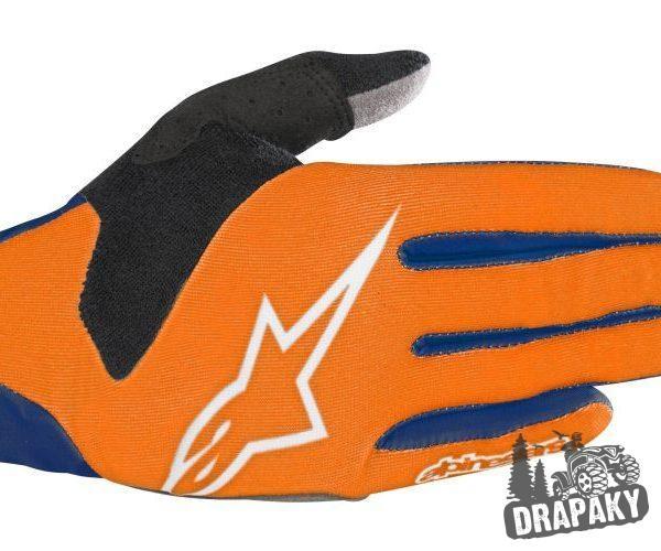 Moto rukavice Alpinestars oranžová veľkosť M